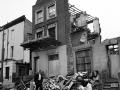 Partly demolished house