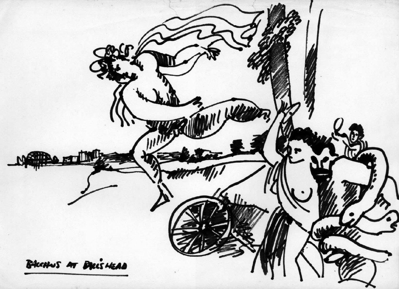 Bacchus at Balls Head by David Perry